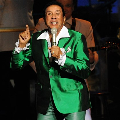 "20150709JHMagSmokey01 Smokey Robinson with the Pittsburgh Symphony Orchestra opened his concert at Heinz Hall with ""Being with You"" and ""Second that Emotion."""